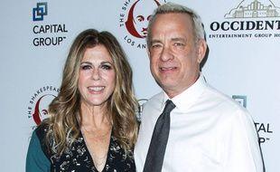 Tom Hanks et son épouse à Los Angeles en 2015
