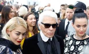 Karl Lagerfeld à Paris le 1er octobre 2013.