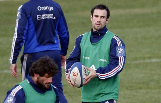 Morgan Parra à l'entraînement avec l'équipe de France, le 7 février 2013, à Marcoussis.