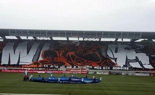 L'un des tifos des Merlus Ultras, qui fêtent cette année leur 20e anniversaire.