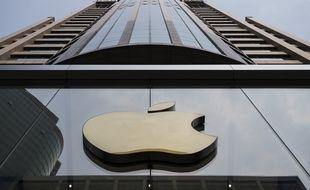 Une enseigne d'Apple, ici à Hong Kong. (illustration)