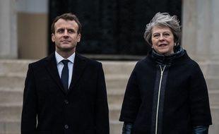 Emmanuel Macron et Theresa May le 18 janvier 2018.