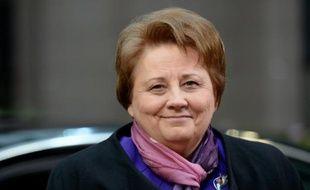 La Première ministre de la Lettonie Laimdota Straujuma, le 29 novembre 2015 à Bruxelles