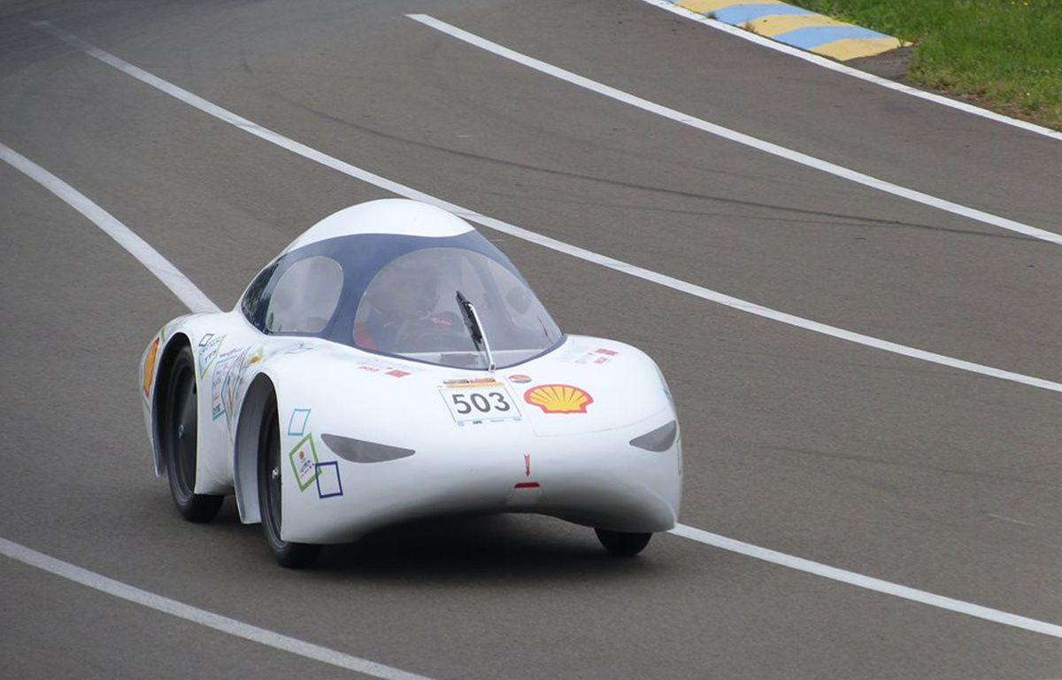 La TIM 07, voiture de 66 kilos conçue par des étudiants de l'Insa Toulouse et de l'Université Paul-Sabatier. – TIM Association