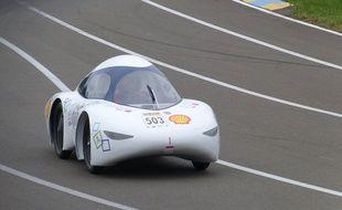 La TIM 07, voiture de 66 kilos conçue par des étudiants de l'Insa Toulouse et de l'Université Paul-Sabatier.