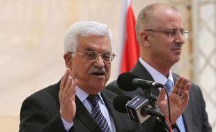 Le président palestinien Mahmoud Abbas à Ramallah le 5 avril 2015
