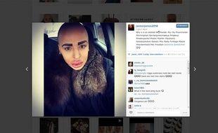 Capture d'écran du compte Instagram de Jordan James Parke, qui a dépensé plus de 190.000 euros pour ressembler à Kim Kardashian.