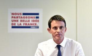 Manuel Valls à son QG