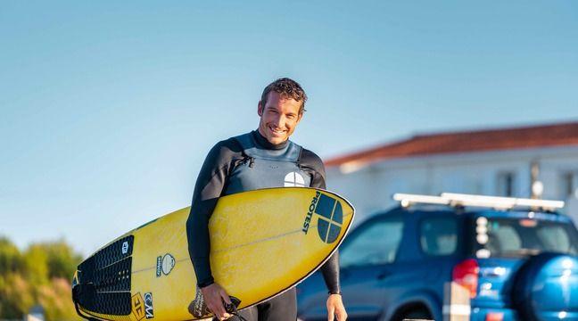 Vendée : « J'ai dû batailler pas mal »... Seul surfeur pro du coin, Tristan Guilbaud côtoie le sommet de la vague