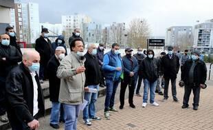 Lors de la manifestation dénonçant l'agression du photojournaliste de L'Union.