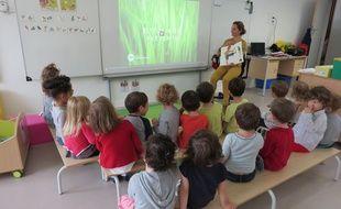 Issy-les-Moulineaux, le 2 octobre 2014, une classe de maternelle.