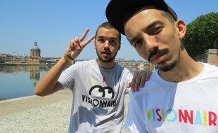 Le groupe de rappeurs Bigflo & Oli à Toulouse.