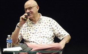 James Ellroy, le 6 avril 2014 à Quais du Polar, à Lyon