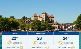 Météo Annecy: Prévisions du lundi 14 juin 2021