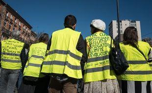 Des «gilets jaunes» à Toulouse lors de l'acte 15 de la mobilisation, le 23 février 2019.