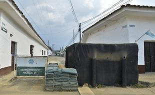 Un poste de police à Caloto, en Colombie.