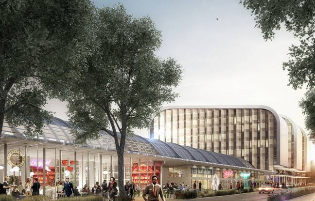 Image de synthèse du projet de rénovation et d'extension de la halle Debat Ponsan à Bordeaux