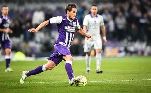 Le milieu offensif du TFC Oscar Trejo lors du match de Ligue 1 entre Toulouse et Bastia, le 17 janvier 2015.