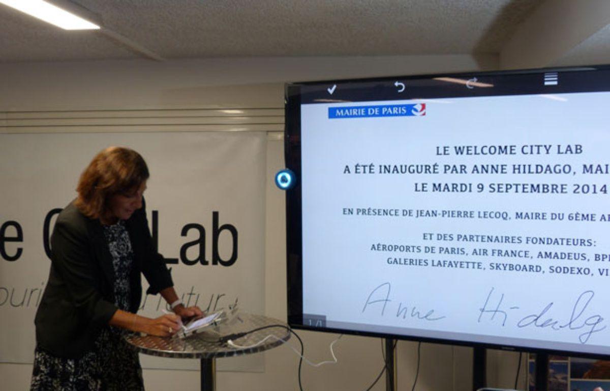 Mardi 9 septembre, Anne Hidalgo a inauguré l'incubateur dédié à l'innovation touristique, Welcome City Lab.  – O. Gabriel/ 20Minutes