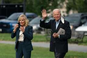 Joe Biden et sa femme Jill à la Maison Blanche.