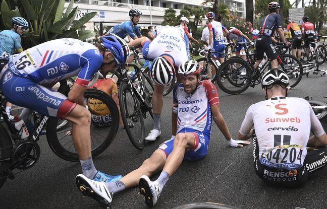 Une centaine de coureurs était tombée lors de cette chute massive à 3 km de l'arrivée à Nice.