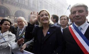 Marine Le Pen le 1er mai 2014 à Paris