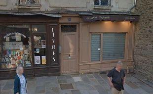 Vue de l'horlogerie Lafayette, rue Hoche à Rennes
