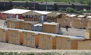 Dans le camp de migrants de la Linière, à Grande-Synthe, le 26 mai 2016