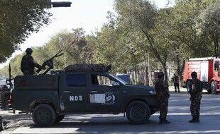 Des forces de sécurité près de l'université de Kaboul. (illustration)