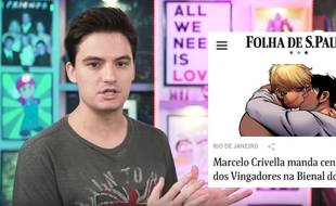 Felipe Neto a protesté contre la décision du maire de Rio de Janeiro d'interdire un comic avec deux jeunes héros gays.