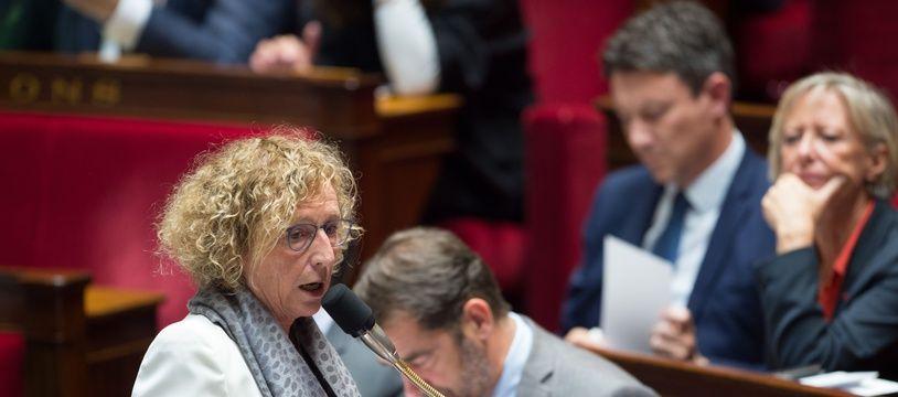 la ministre du Travail, Muriel Pénicaud, à l'Assemblée nationale.
