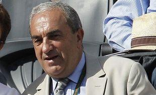 Le président de la fédération française de tennis, Jean Gachassin, lors de Roland-Garros, le 29 mai 2011.