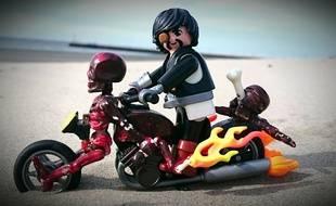 L'une des créations de Pierre-Olivier, passionné de Playmobil.