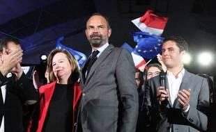 Edouard Philippe, le 6 mai 2019 à Caen lors d'un meeting de la liste Renaissance aux européennes.