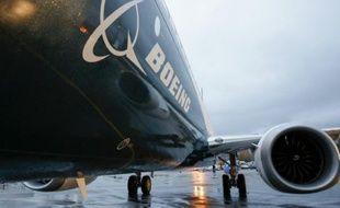 Un Boeing 737 MAX. Boeing a annoncé mercredi avoir reçu un engagement d'achat de la compagnie privée chinoise Okay Airways pour 12 avions de la famille 737 pour une valeur globale de 1,3 milliard de dollars