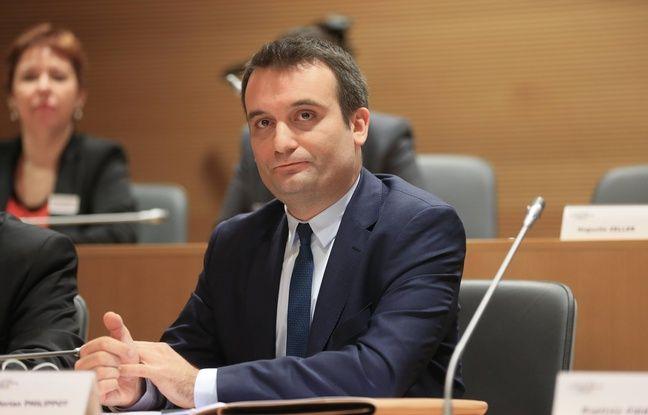 Florian Philippot (FN) lors du premier Conseil régional  de la Grande Région Est le 4 janvier à Strasbourg.2016.
