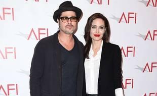 Angelina Jolie et Brad Pitt aux Afi Awards, le 9 janvier 2015.