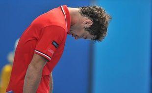 Richard Gasquet éliminé au 3e tour de l'Open d'Australie, le 20 janvier 2011 à Melbourne.