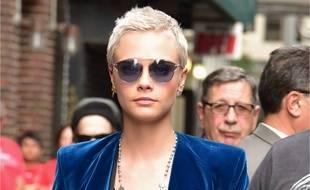 L'actrice Cara Delevingne dans les rues de New York