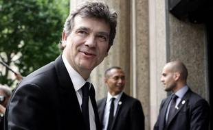 Le ministre de l'Economie Arnaud Montebourg à son arrivée à la conférence sociale à Paris, le 7 juillet 2014.