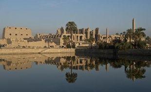 Vue en date du 21 décembre 2013 du temple de Karnak à Louxor