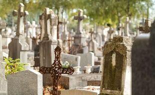Un cimetière (illustration)