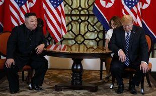 Donald Trump et Kim Jong-un à Hanoi, le 28 février 2019.