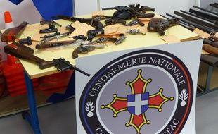 La saisie d'armes réalisée par les gendarmes de Figeac chez un retraité.
