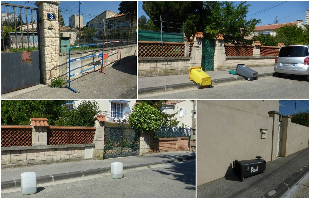 Des bidons, des poubelles renversées, des barrières... On n'arrête pas le progrès. – S. B.