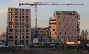 Exemple de constructions d'immeubles, ici aux Bassins à Flot à Bordeaux