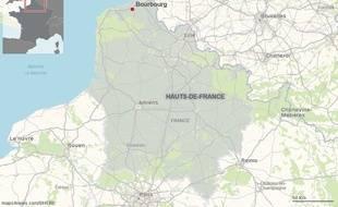 La commune de Bourbourg, dans le Nord.