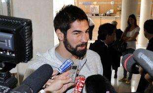 Nikola Karabatic, ancien handballeur de Montpellier, après une audition chez le juge, en juin 2013.