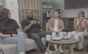 Des jeunes discutent de la consommation de cannabis pour Brut.
