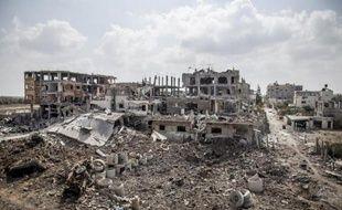 Les destructions dans la ville de Beit Hanoun, dans la bande de Gaza, le 5 août 2014